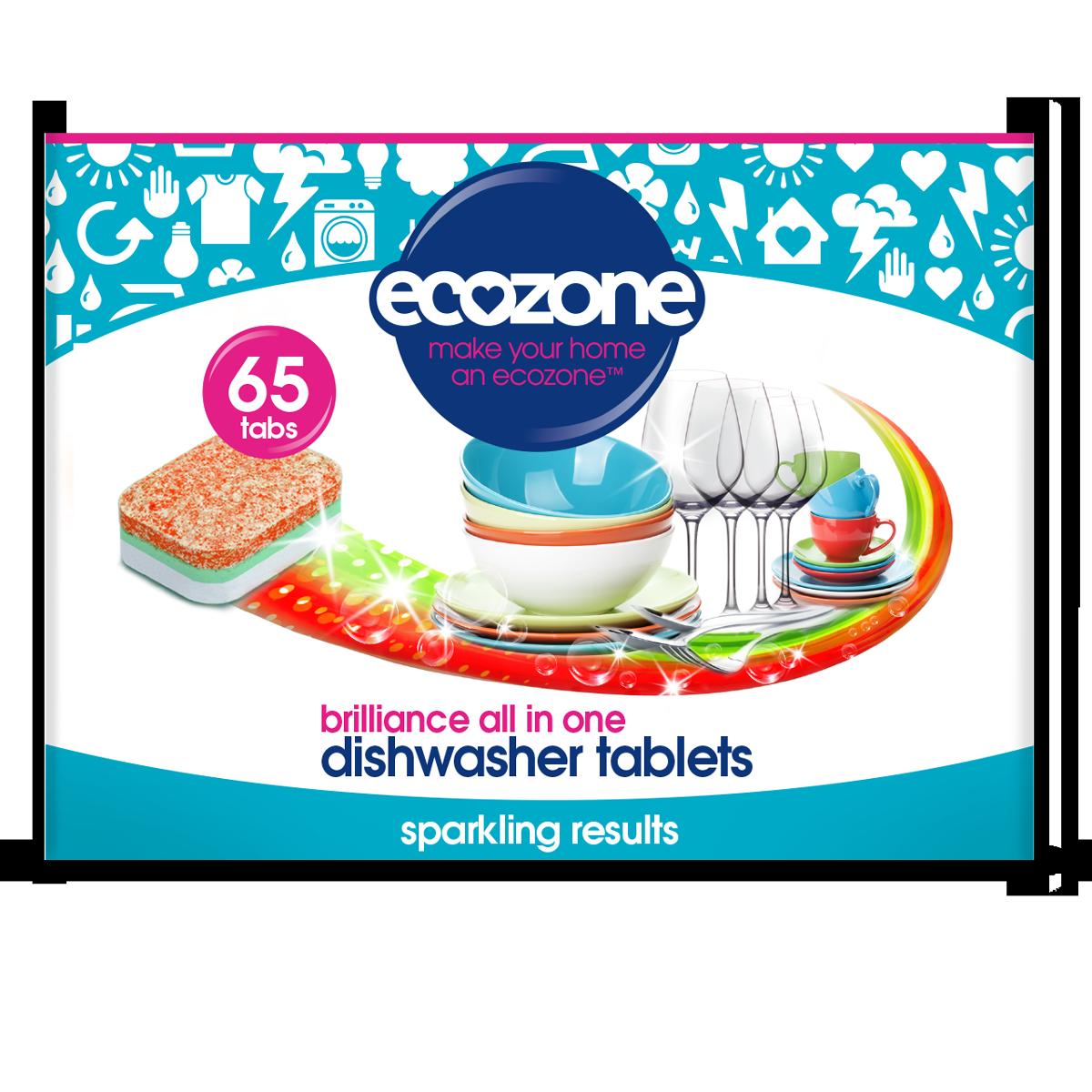 Brilliance Dishwasher Tablets 65 Ecozone Dishwashing