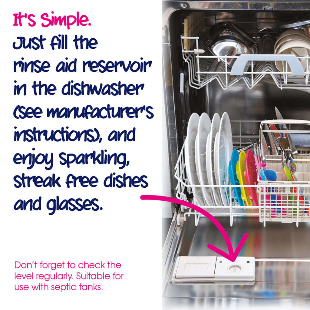 Ecozone dishwasher rinse aid how to use