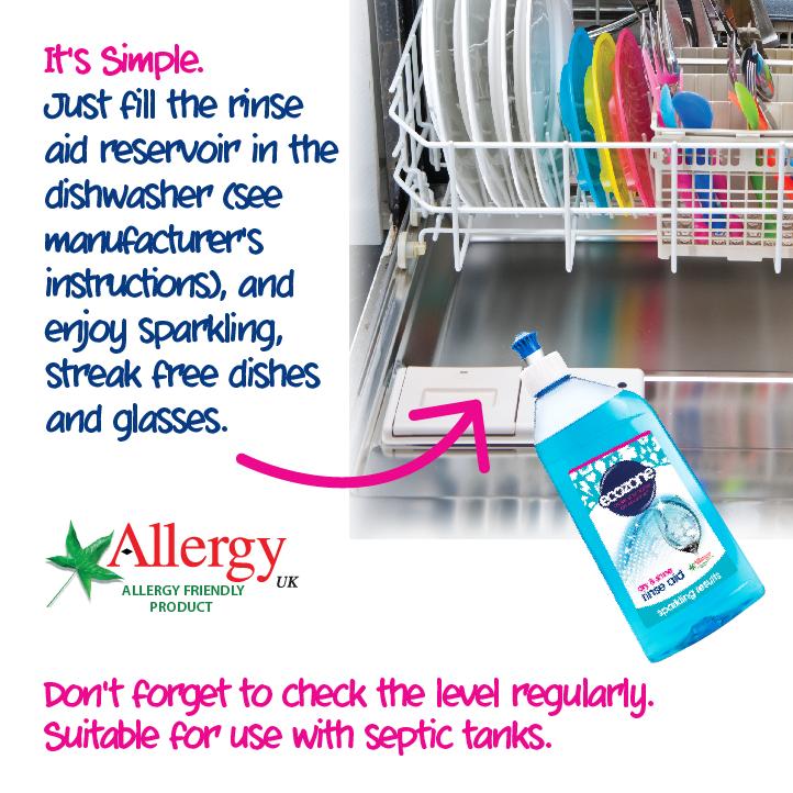 Ecozone Dishwasher Rinse Aid How to use