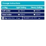 bio detergent 5L dosage chart