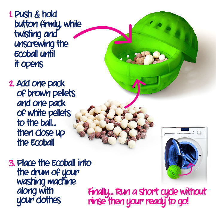 Ecozone Ecoballs How To Use