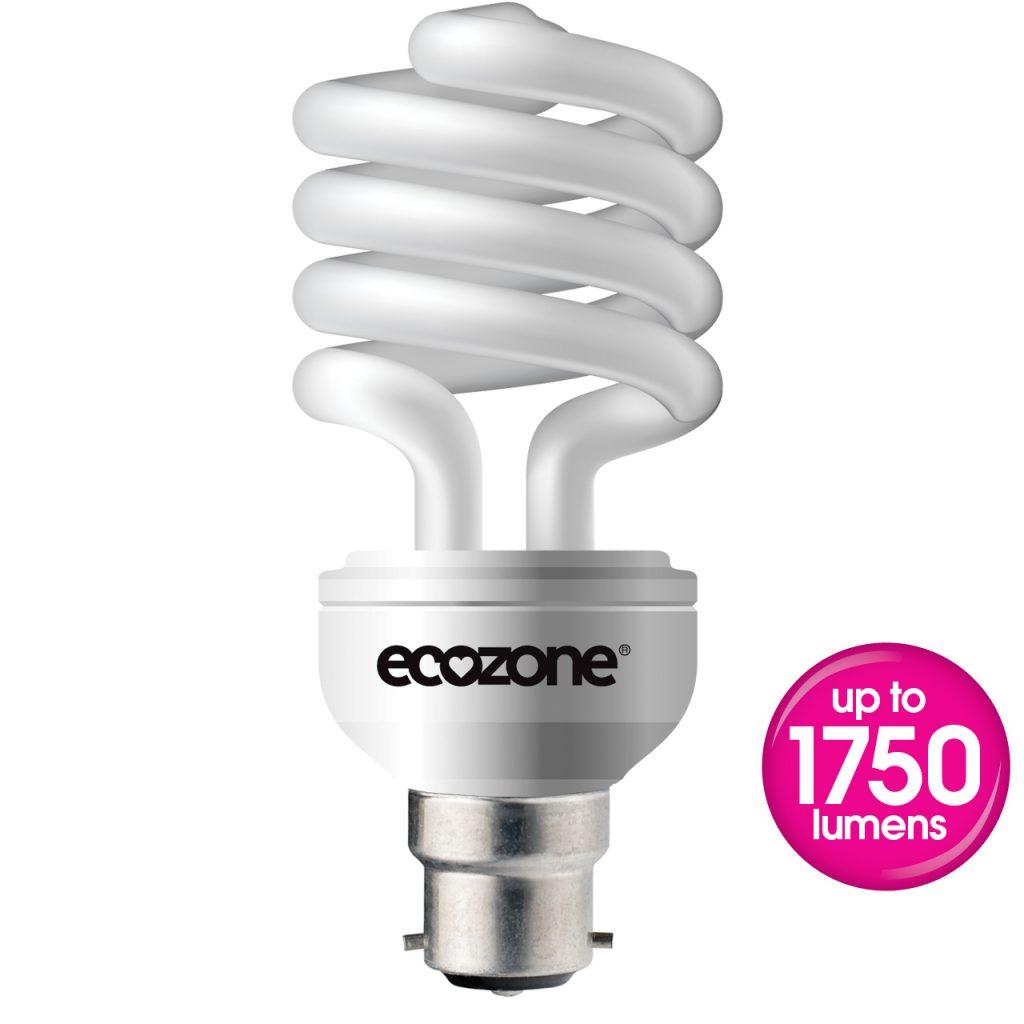 Ecozone B22 25 Watts CFL Biobulb