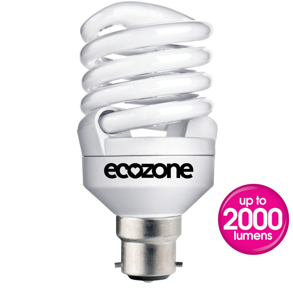 Ecozone B22 30W CFL Biobulb out of pack