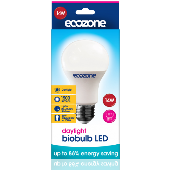 Ecozone E27 LED 14 Watts Daylight Biobulb