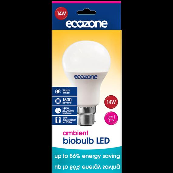Ecozone LED B22 14 Watts Biobulb