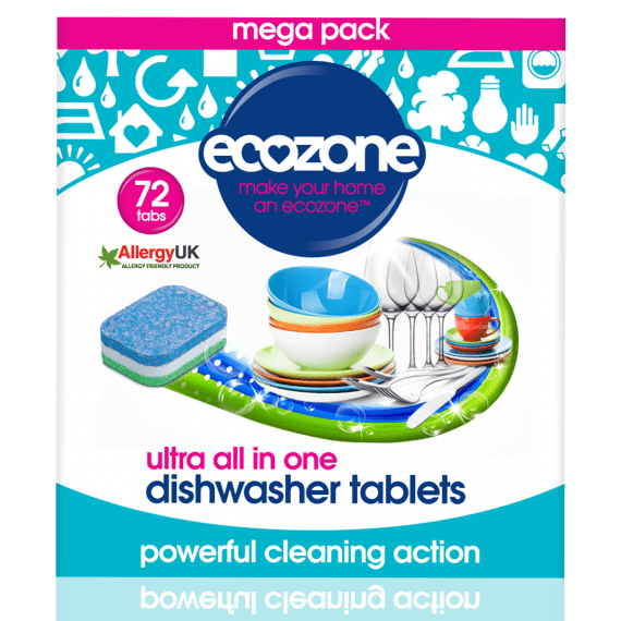 Ecozone Ultra Dishwasher Tablets 72