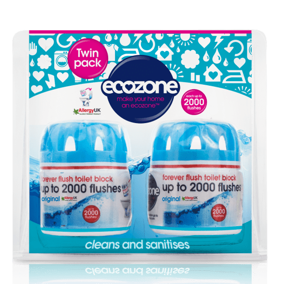 Ecozone Forever Flush Twin Pack Toilet Block