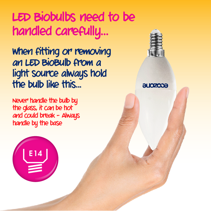 Ecozone LED E14 Fitting 5.5 Watts Biobulb how to use