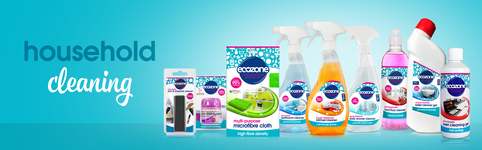 Natural Cleaning Products - Ecozone Household Cleaning Banner