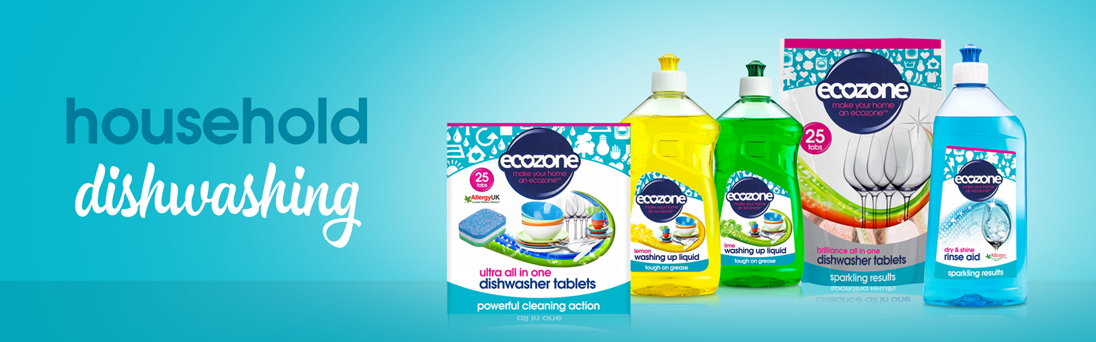 Natural Cleaning Products - Ecozone Household Dishwashing Banner
