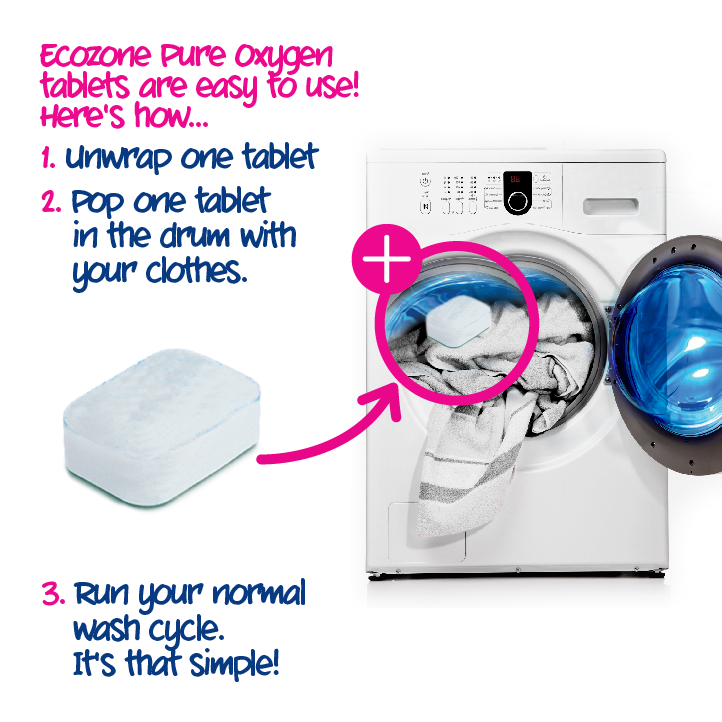 Ecozone Laundry Whitener 6 Pack Bundle How To Use