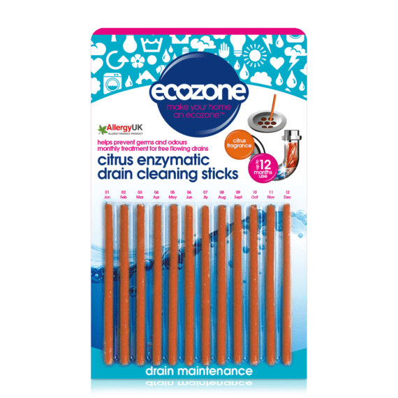 Ecozone Citrus Drain Sticks