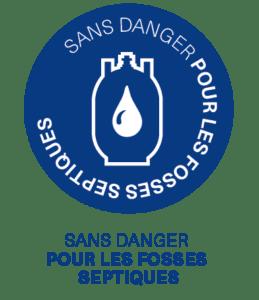 sans danger pour les fosses septiques