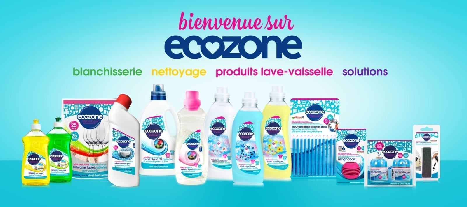 PAGE D'ACCUEIL OFFICIELLE des produits Ecozone