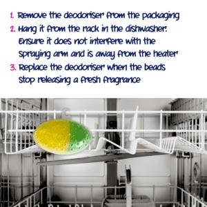 How to use Ecozone product dishwasher deodoriser