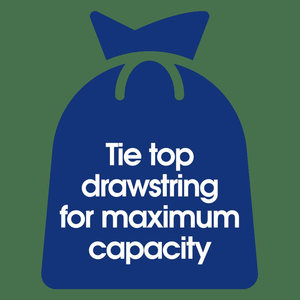 Ecozone bin bag for maximum capacity