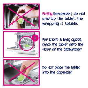 How to use Ecozone's dishwasher tablet classic 25 tabs